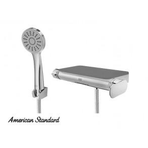 아메리칸 / 플랫 라운드 선반형 샤워욕조수전 (블랙) FB5783