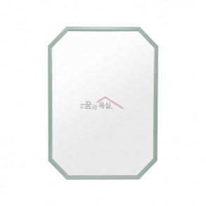 팔각 미러 / 600×800 / 알루미늄 프레임 / 민트