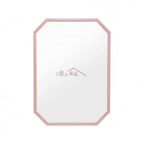 팔각 미러 / 600×800 / 알루미늄 프레임 / 핑크